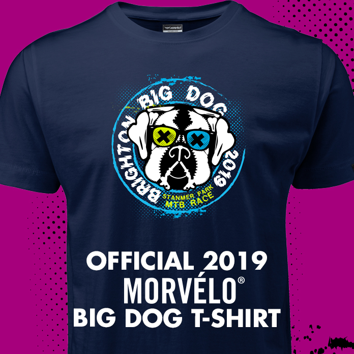 Morvélo Big Dog T-Shirt -  Clothe yourself in the official shirt for this years event, and let everyone know you were there.  Limited edition of 100