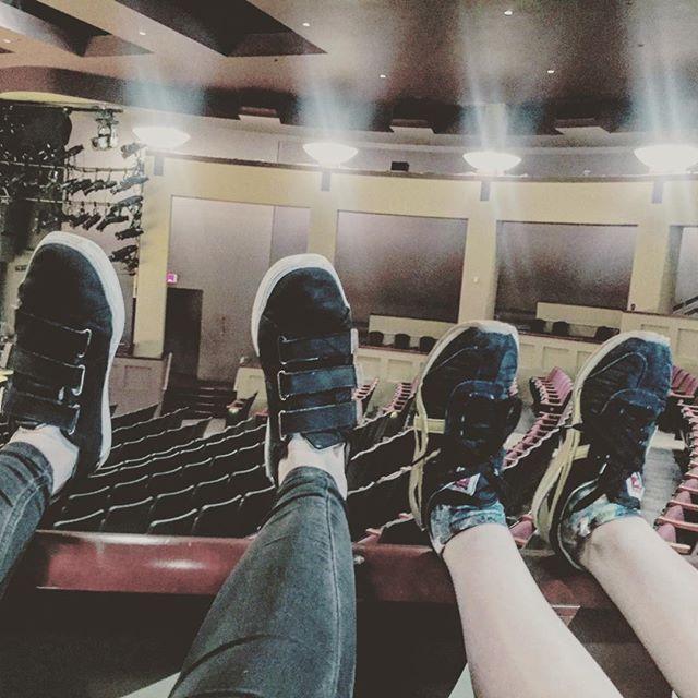 Big feet & little feet await production meeting #collaboration #teamcostumes & #teamlightning #noura @shakespeareindc