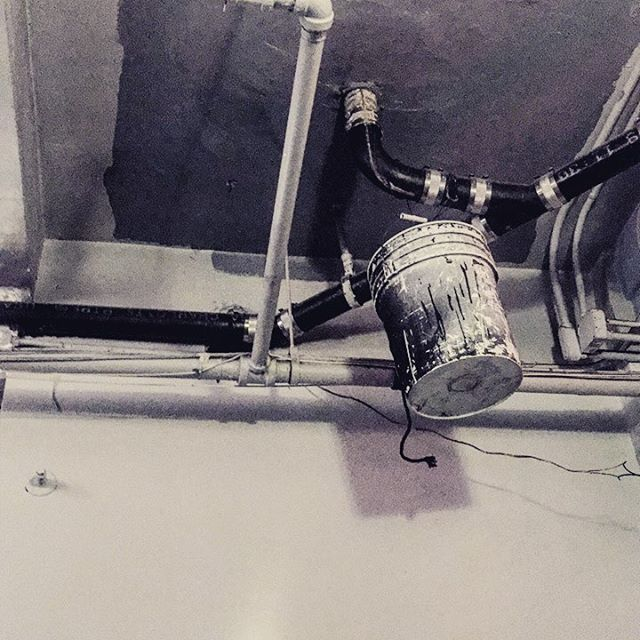 Buckets ceilings pipes #theatreinterior #backstage #theglamour