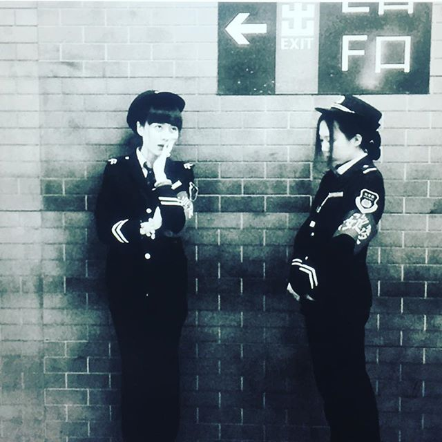 'Beijing subway workers taking a break' circa 81 #teamcostumeresearch #researchfinds