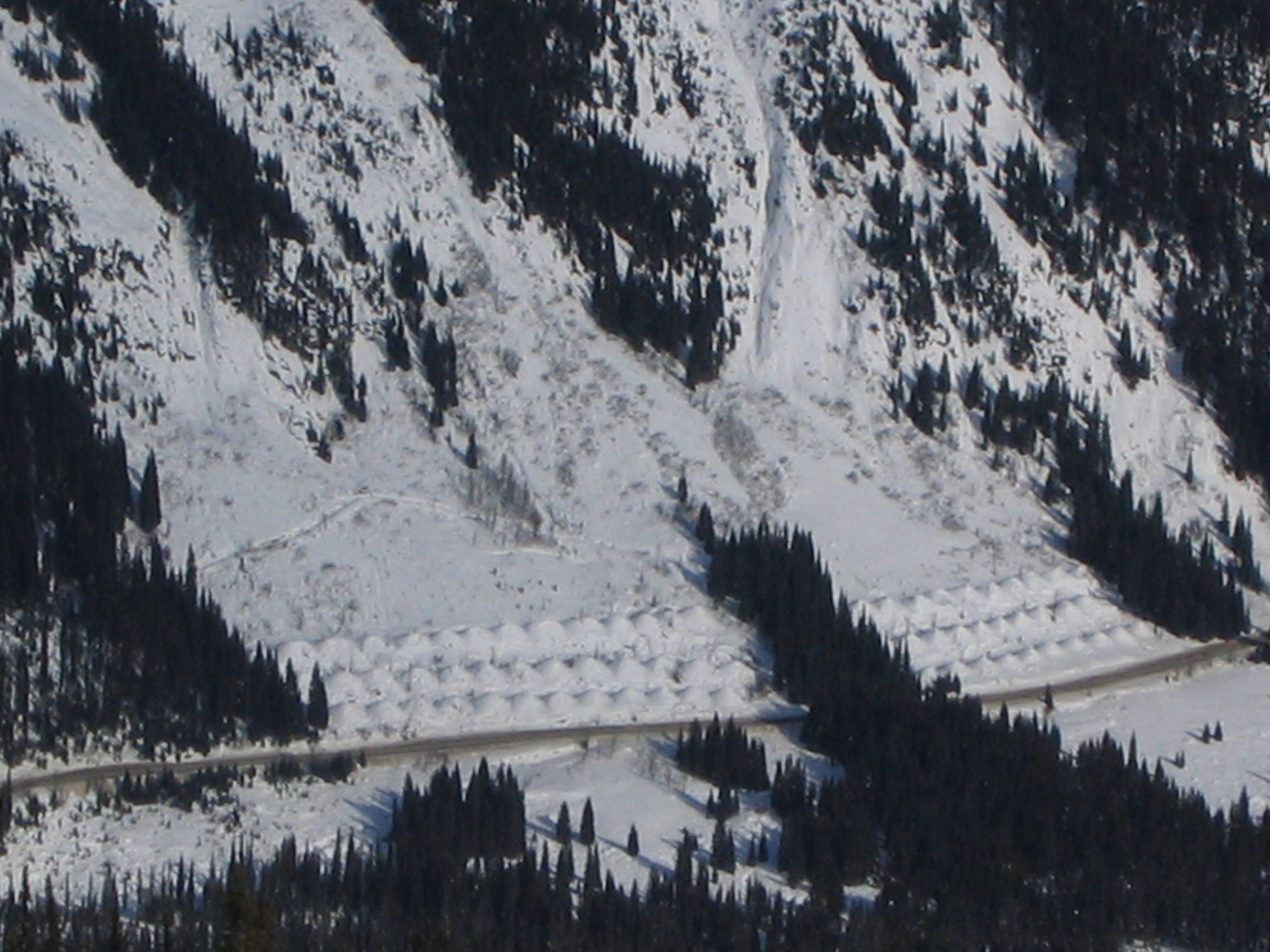 Avalanche Retarding Mounds