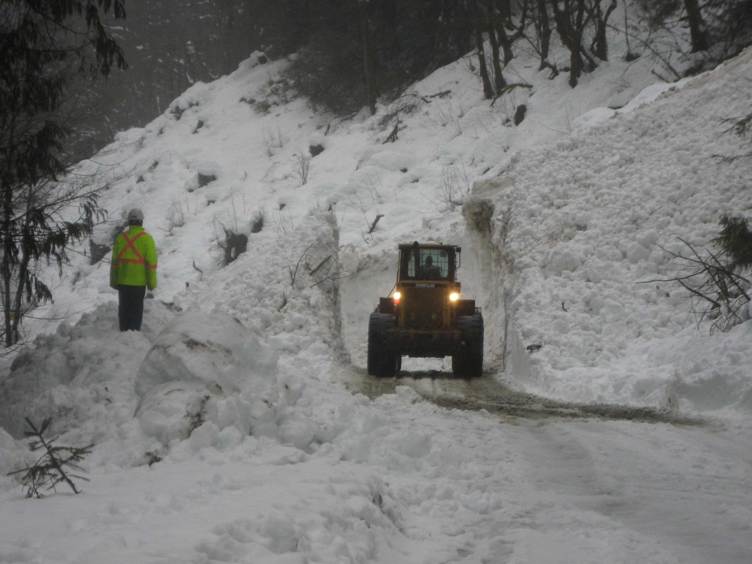 Avalanche Deposit Cleanup