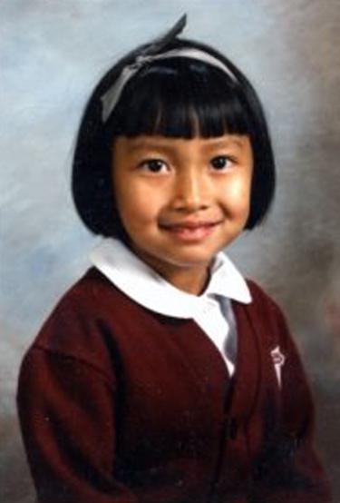 Jasmin in kindergarten, when organizing began.