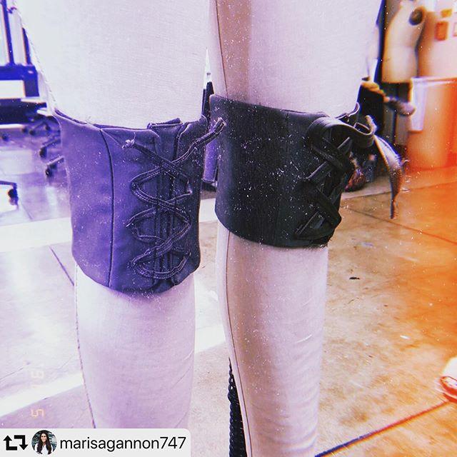 #repost @marisagannon747 ・・・ Second sample knee corsets on the form. #mizzoutechdesign @cotton_works @mizzoutam @mizzoutechdesign