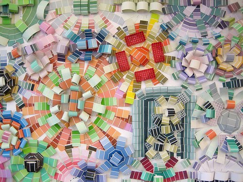 Jeff Wilson's Paint Chip Collage 2, Arlington Public Library. photo courtesy of  http://www.flickr.com/photos/arlib/with/3409548593/