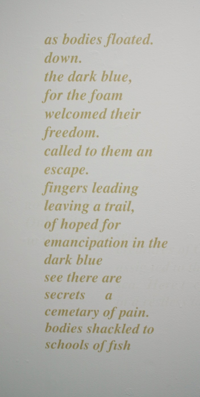 'what it took', 2007 (original text written for exhibition, vinyl lettering on wall)