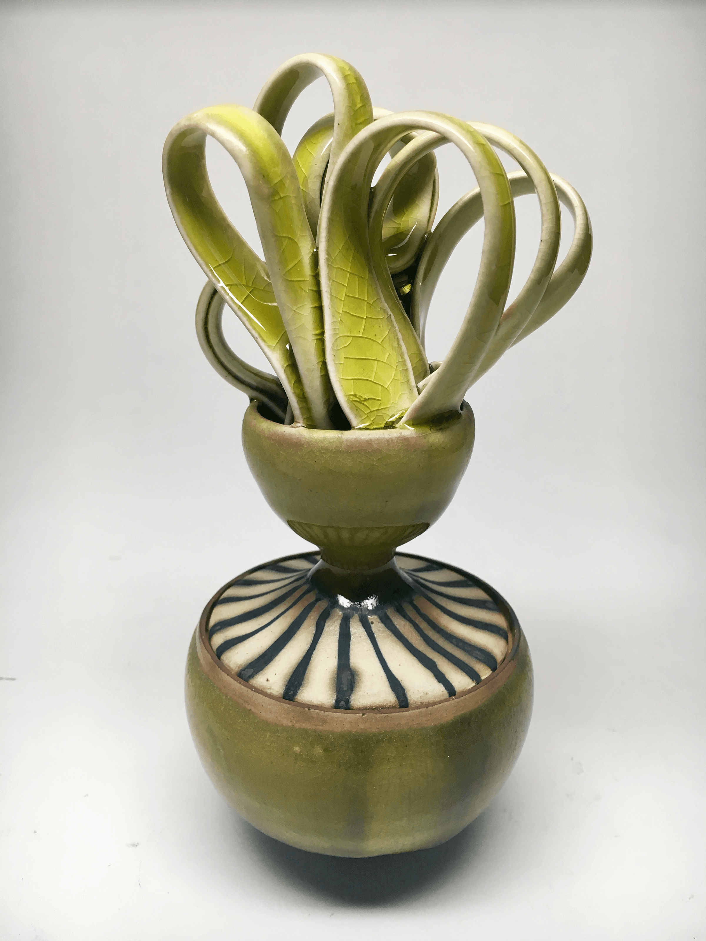 """Plantation Sugar Jar: 'for Chloe Spears (1750-1815)', Stoneware, Porcelain Paper Clay, 6,5"""" x 3"""" x 3.5"""", Cone 6 Oxidation, 2017 (dimensions variable)"""