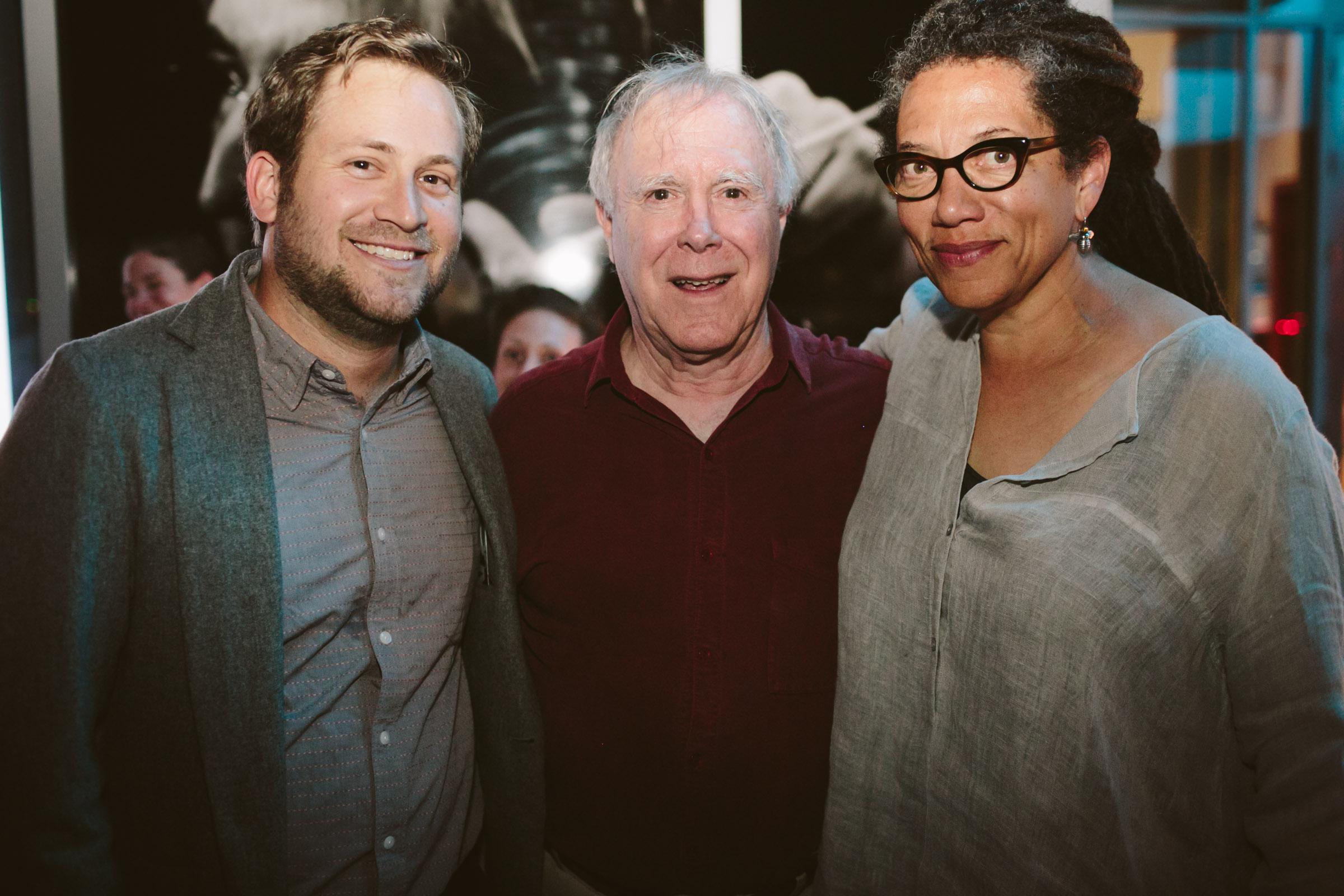 Scott Cunningham, Robert Hass, and Nikky Finney.