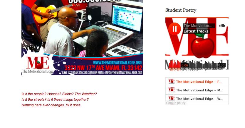 Screen shot from The Motivational Edge website.