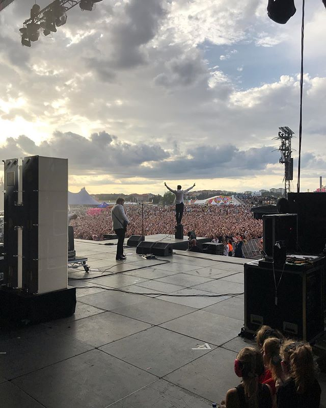 @thehives @lollapaloozase yesterday, absolutely smashed it. #thehives #lollapalooza #stockholm