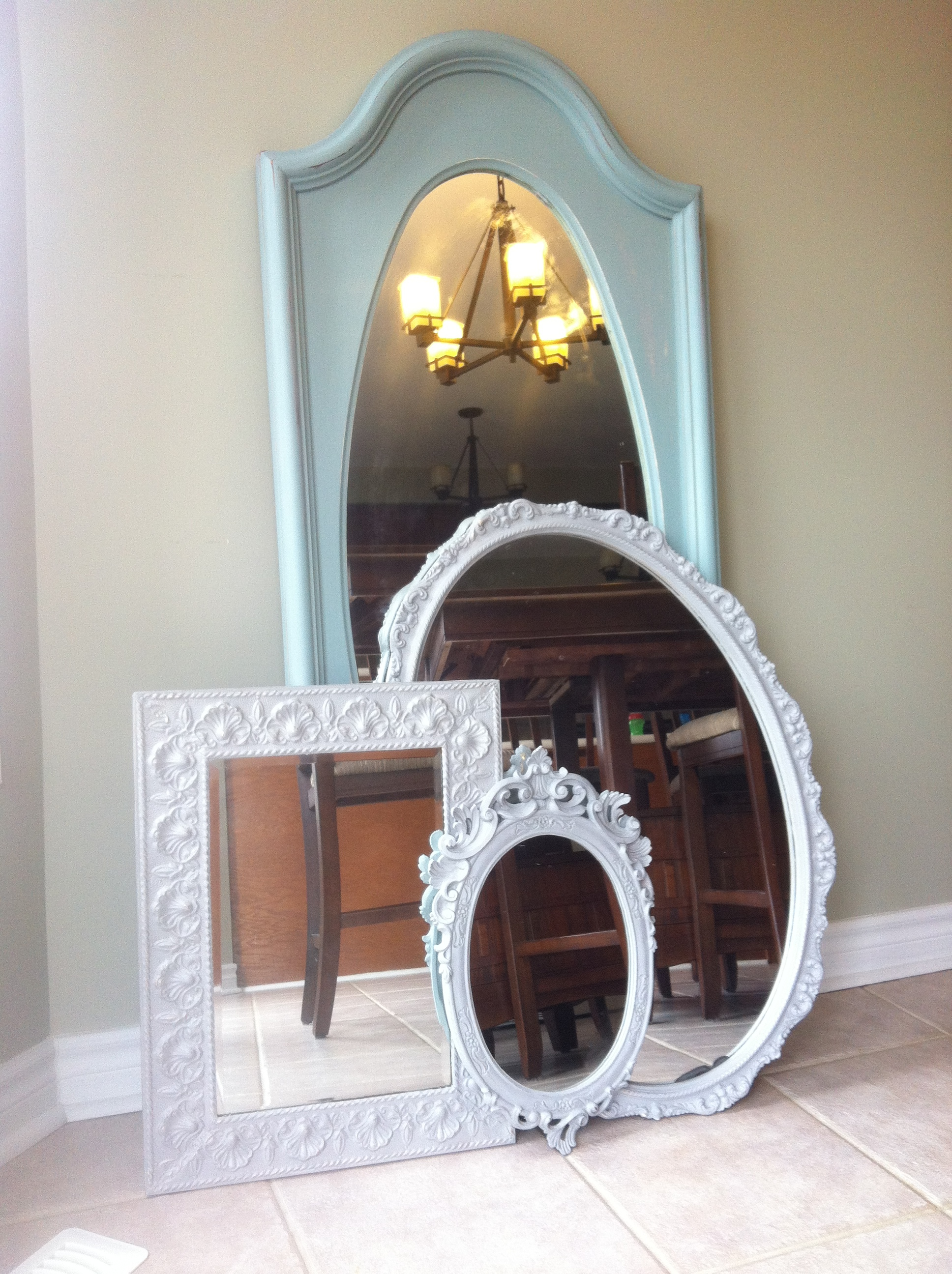 a few painted mirror restyles