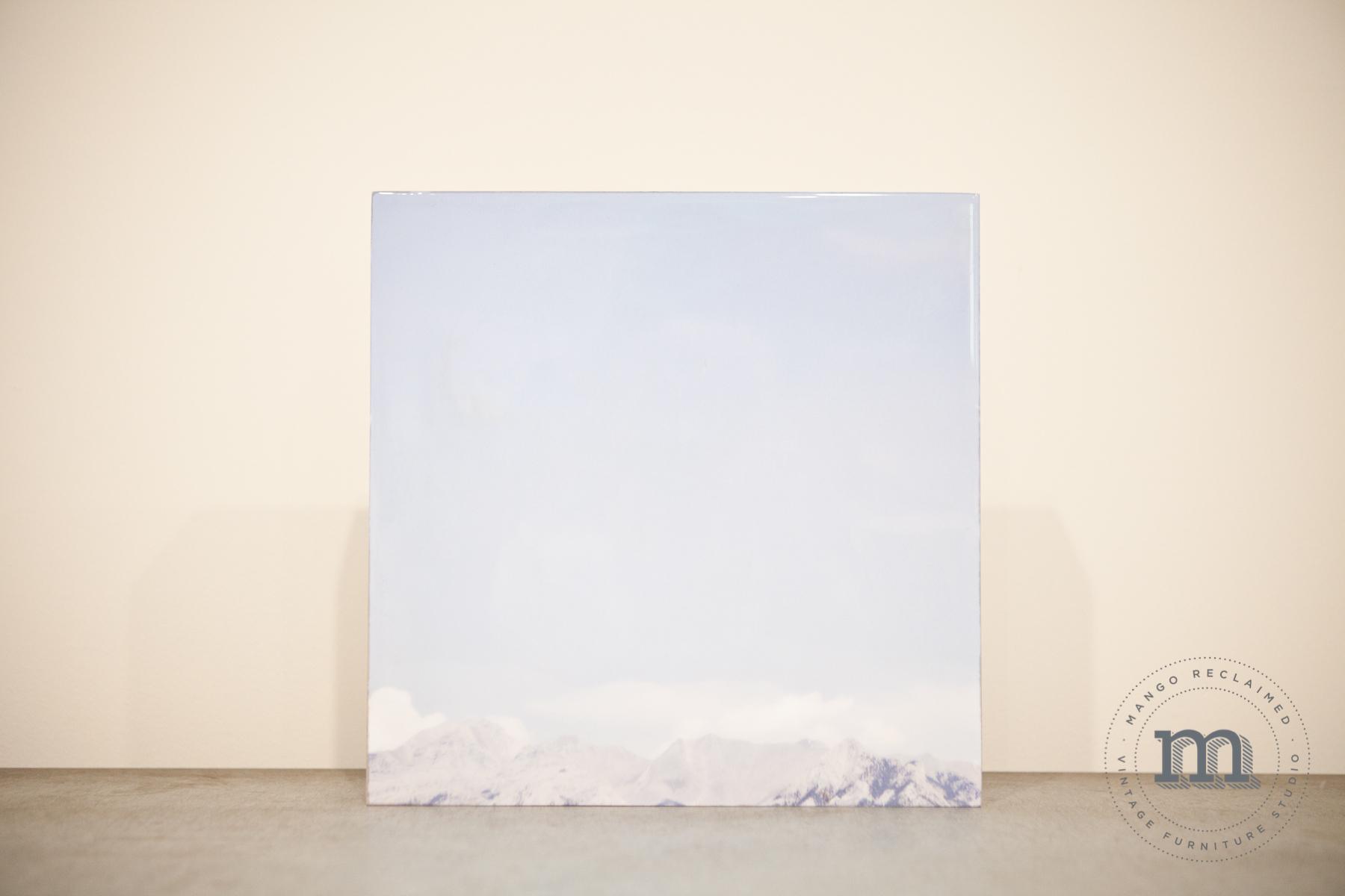 "Mountain Skyline, Rocky Mountains, Alberta, 12""x12"", $95"