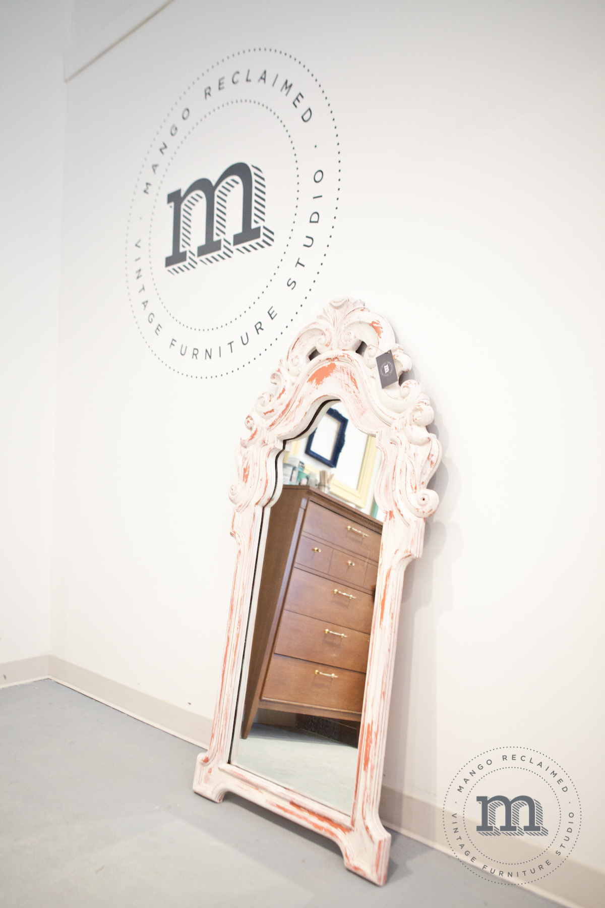 Mirror available at Mango Reclaimed, $150.