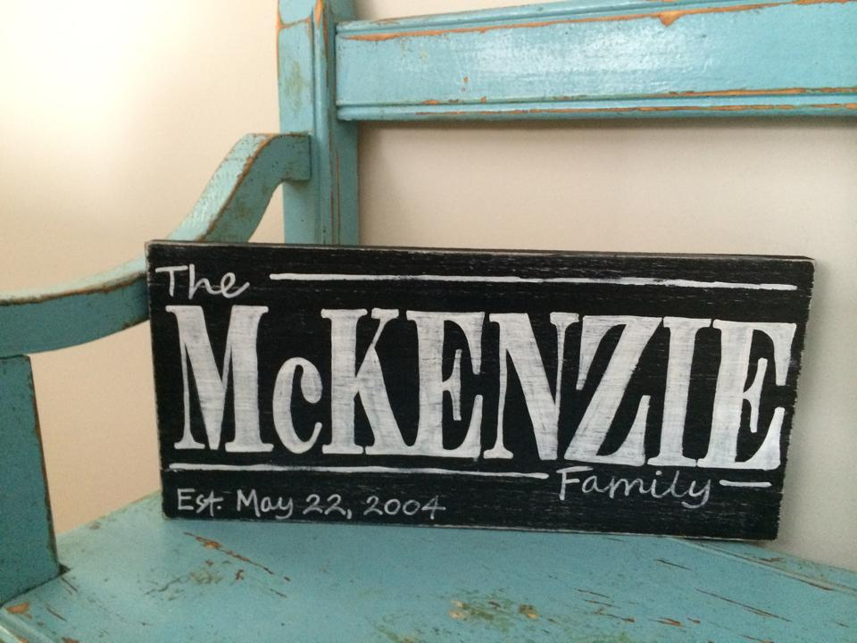 Personalized Family Name Sign Workshop - Saturday April25th, 12pm - 3pm