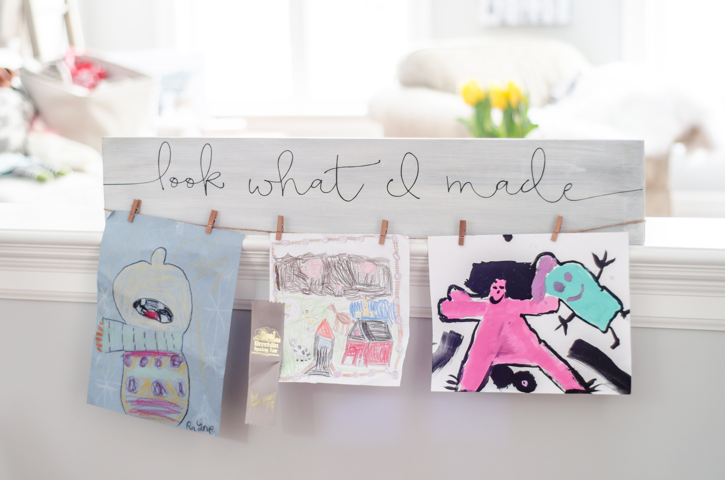 'Look what I made' sign - Wednesday March 28th, 5:30-8pm!