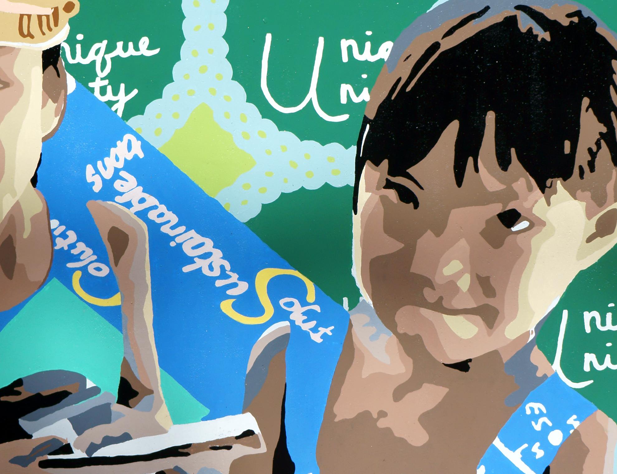 Detail of UC Santa Cruz Mural 2013