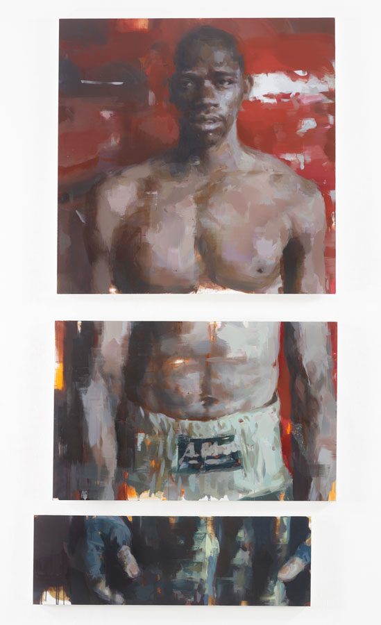 "Pieces of a Man.  2013, 116"" x 60"", (295 x 152 cm) oil on linen"