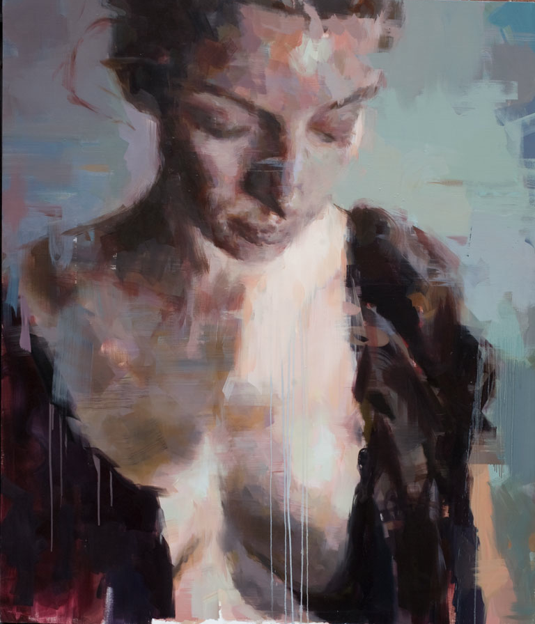 Anne Claire # 5.  2011, (213 x 183 cm) oil on linen