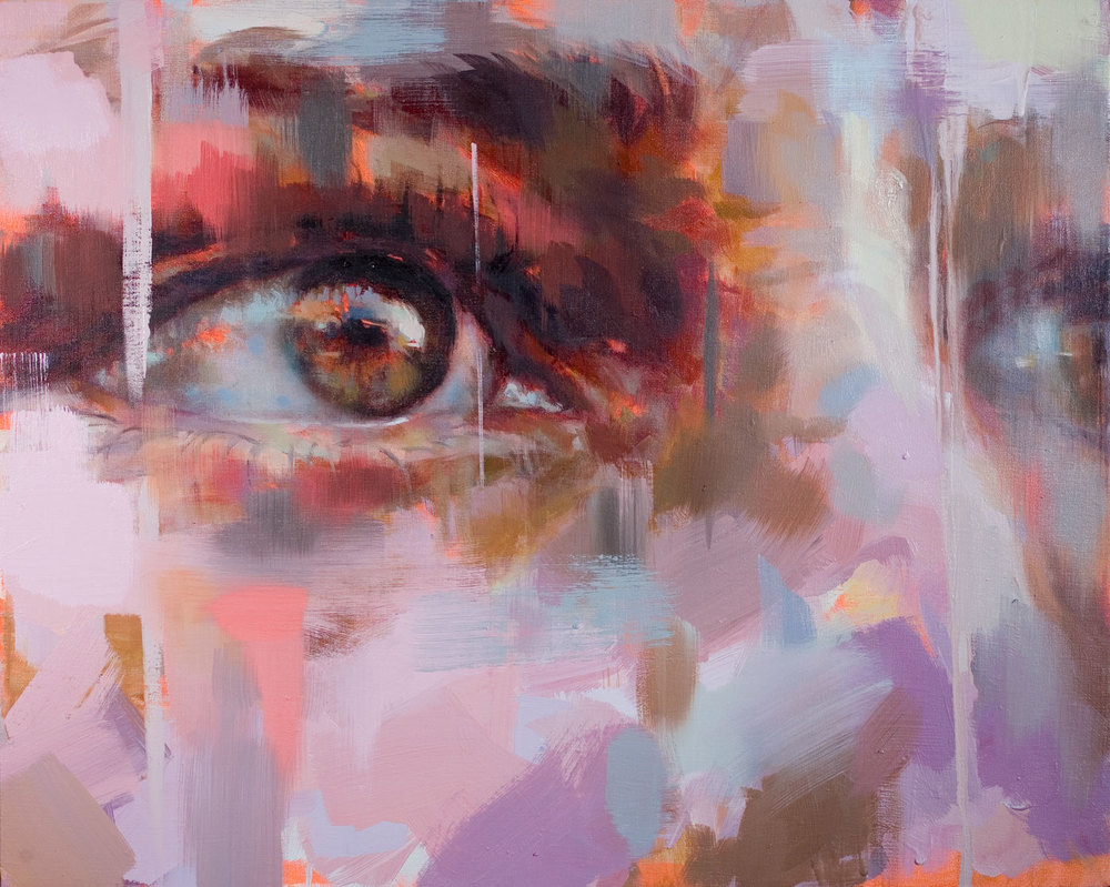 "Eyes #2.  2007, 30"" x 25"" (77 x 65 cm) oil on canvas"