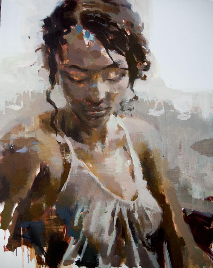 """Dina #1 . 2011, 79"""" x 99"""", (200 x 250 cm) oil on canvas"""