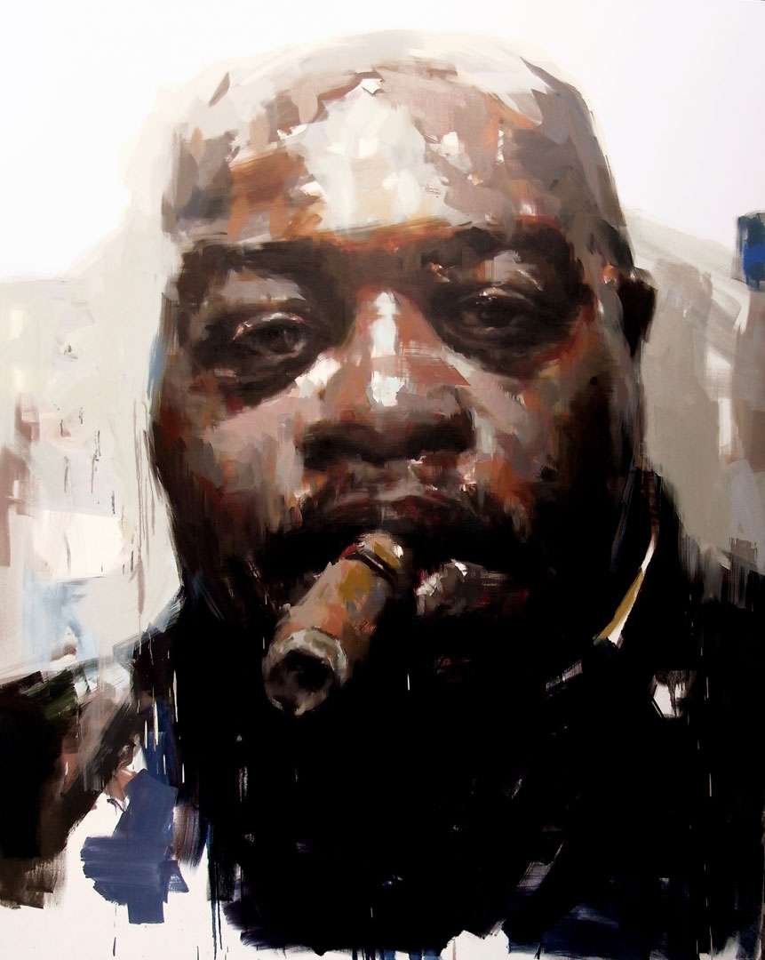 "Kenneth # 3. 2011, 79"" x 99"", (200 x 250 cm) oil on canvas"