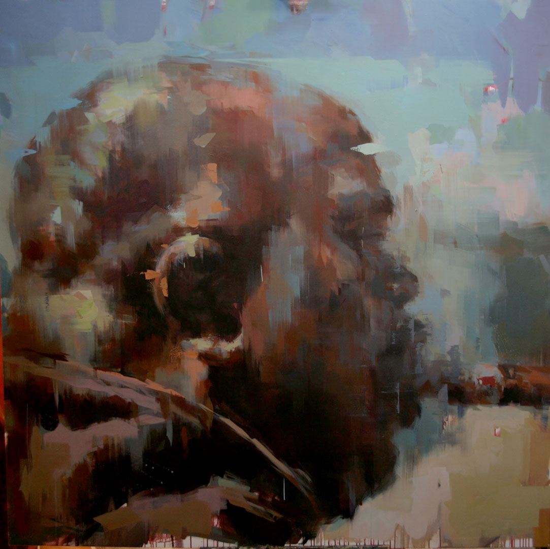 "Kenneth # 2. 2011, 79"" x 79"", (200 x 200 cm) oil on canvas"