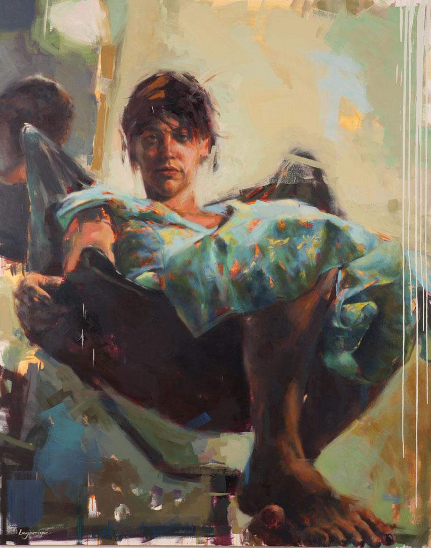 """Cecilia . 2006, 79"""" x 99"""", (200 x 250 cm) oil on canvas"""