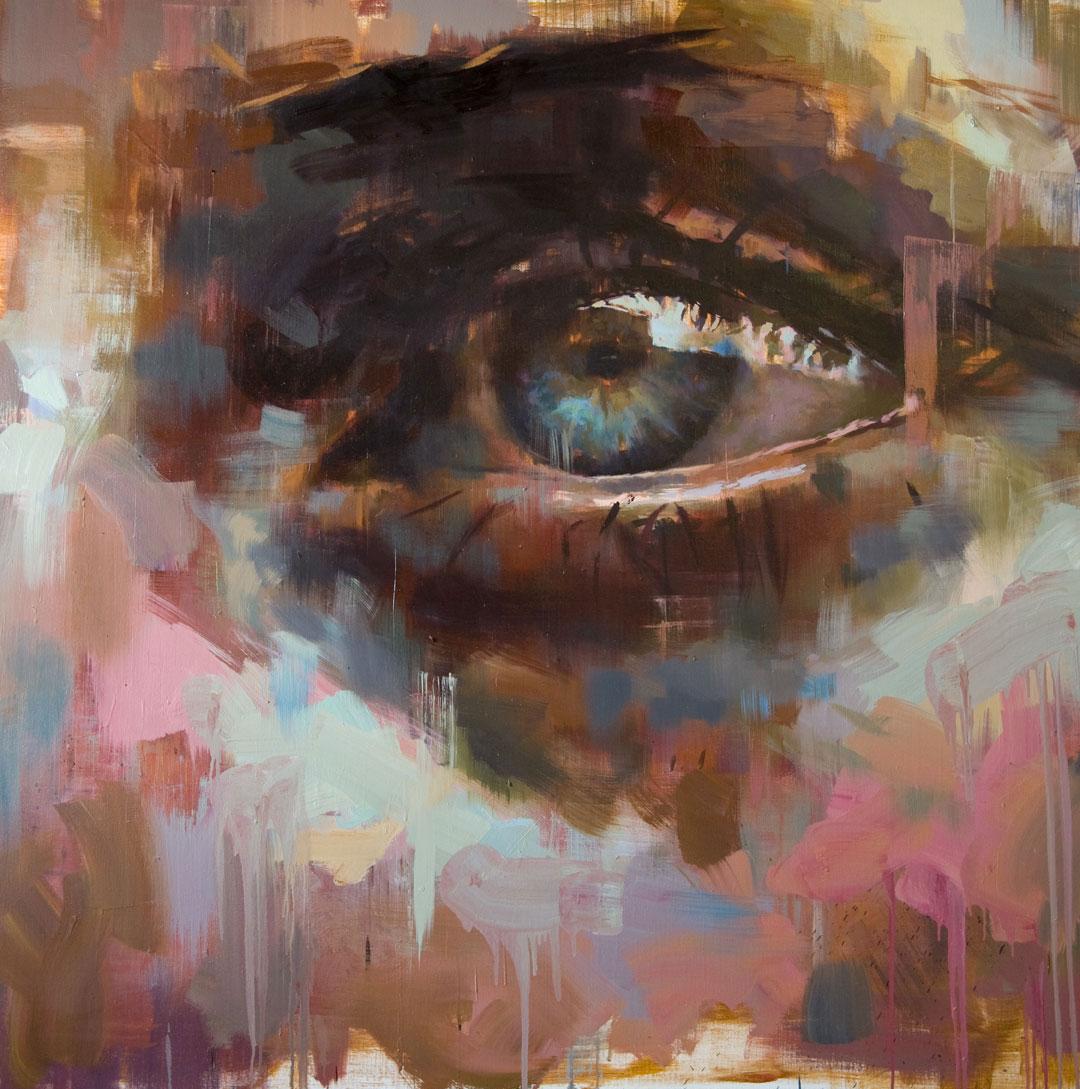 """Eye # 7.  2009, 59"""" x 59"""" (150 x 150 cm) oil on linen"""