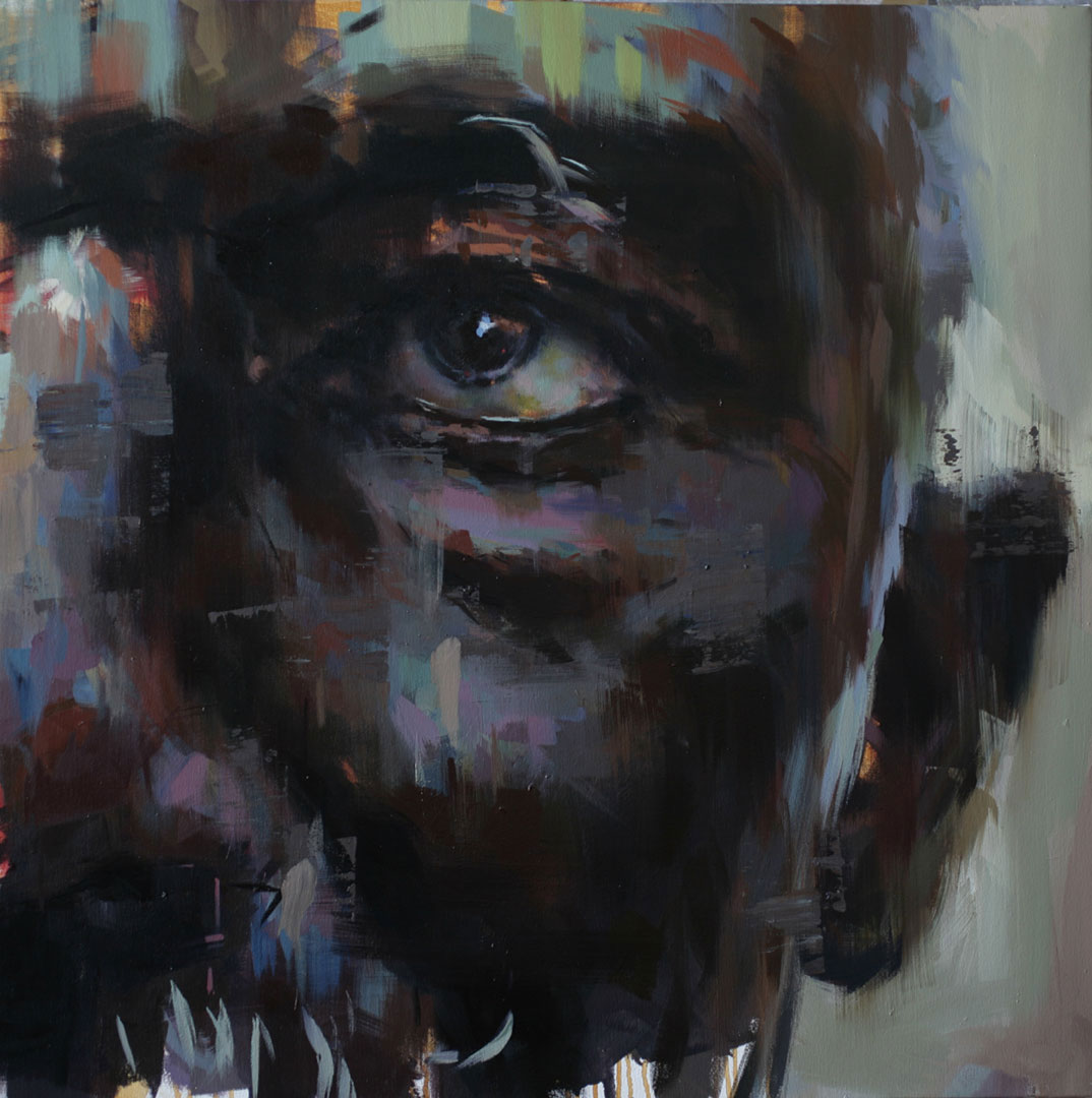 "Eye # 8.  2010, 40"" x 40"", (100 x 100 cm) oil on canvas"