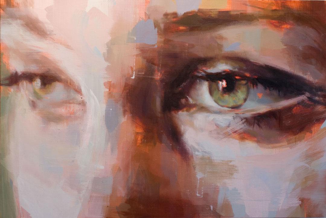 "Eye # 14.  2013, 24"" x 36"", (90 x 60 cm) oil on canvas"