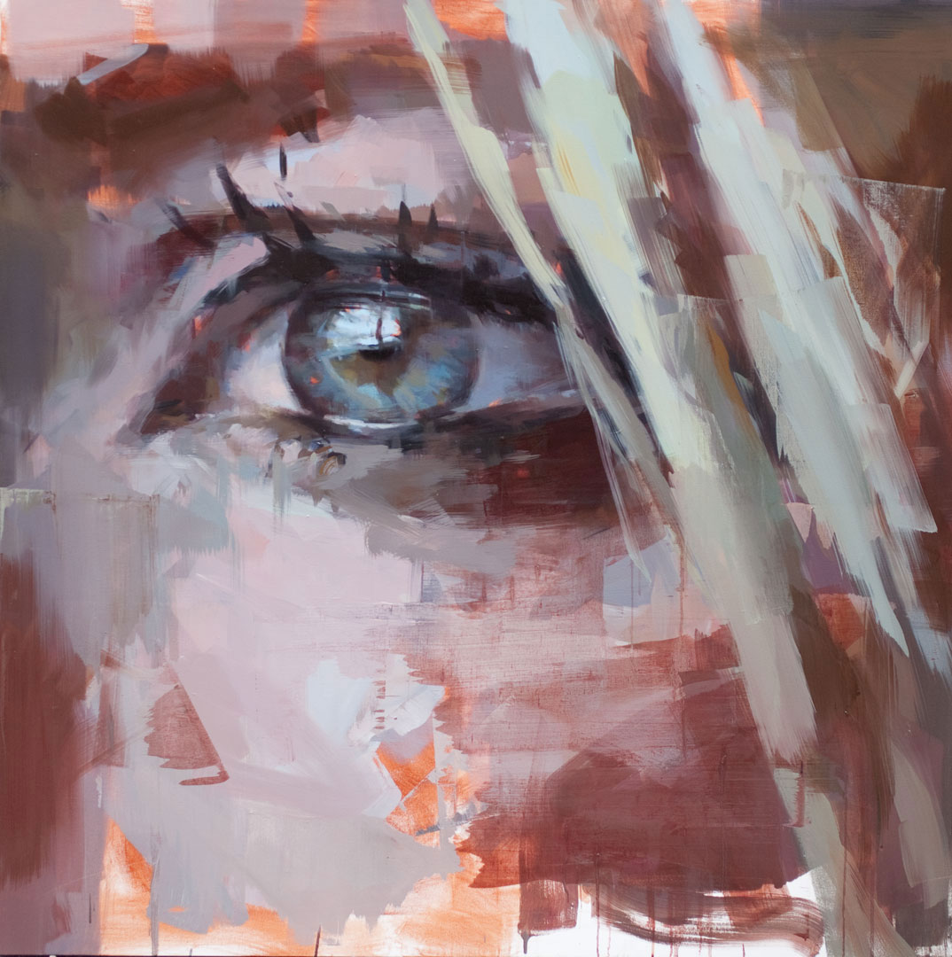 "Eye # 13.  2013, 59"" x 59"", (150 x 150 cm) oil on canvas"