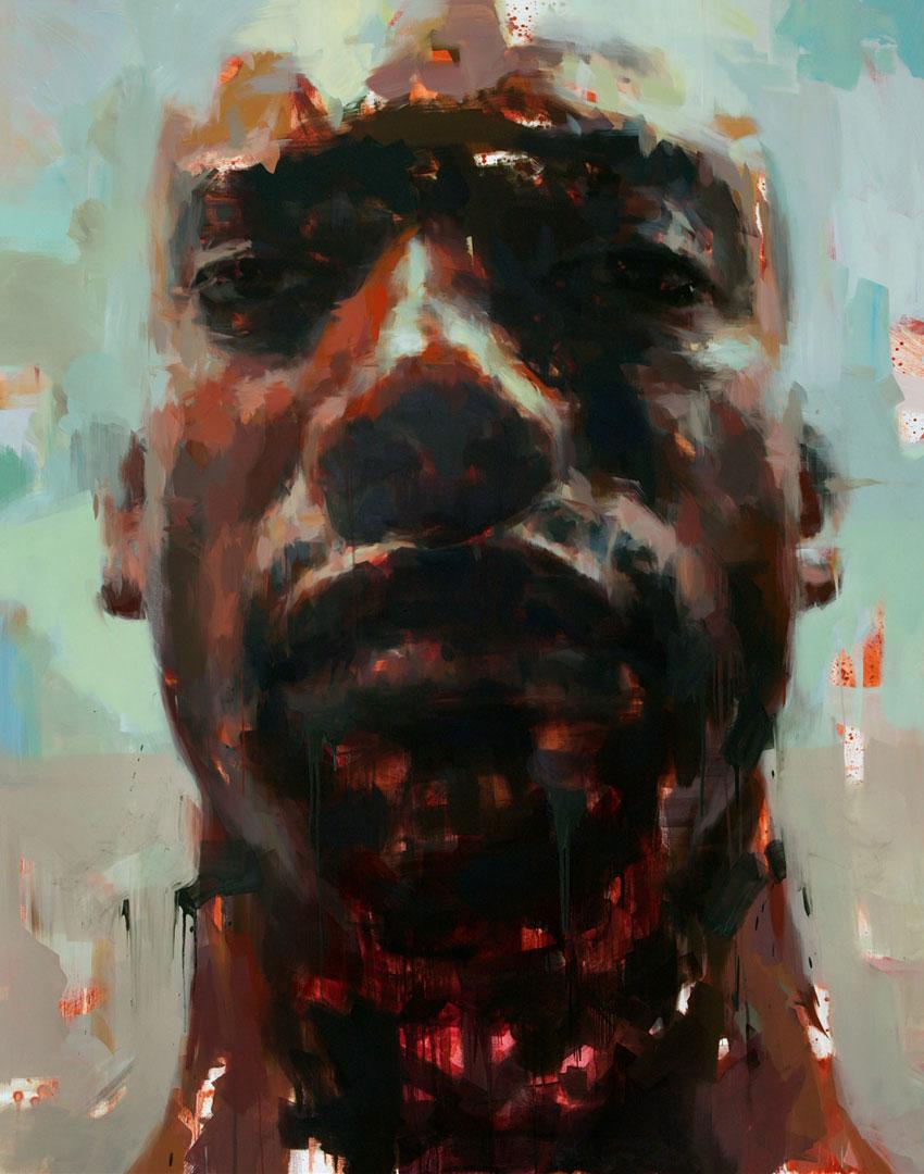 "Haze. 2011, 79"" x 99"" (200 x 250 cm) oil on canvas"