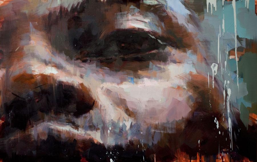 "August . 2010, 59"" x 38"", (150 x 150 cm) oil on canvas"