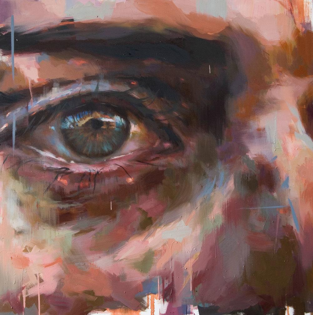 """""""Eye # 6"""" . 2009, 59"""" x 59"""", (150 x 150 cm) oil on linen"""