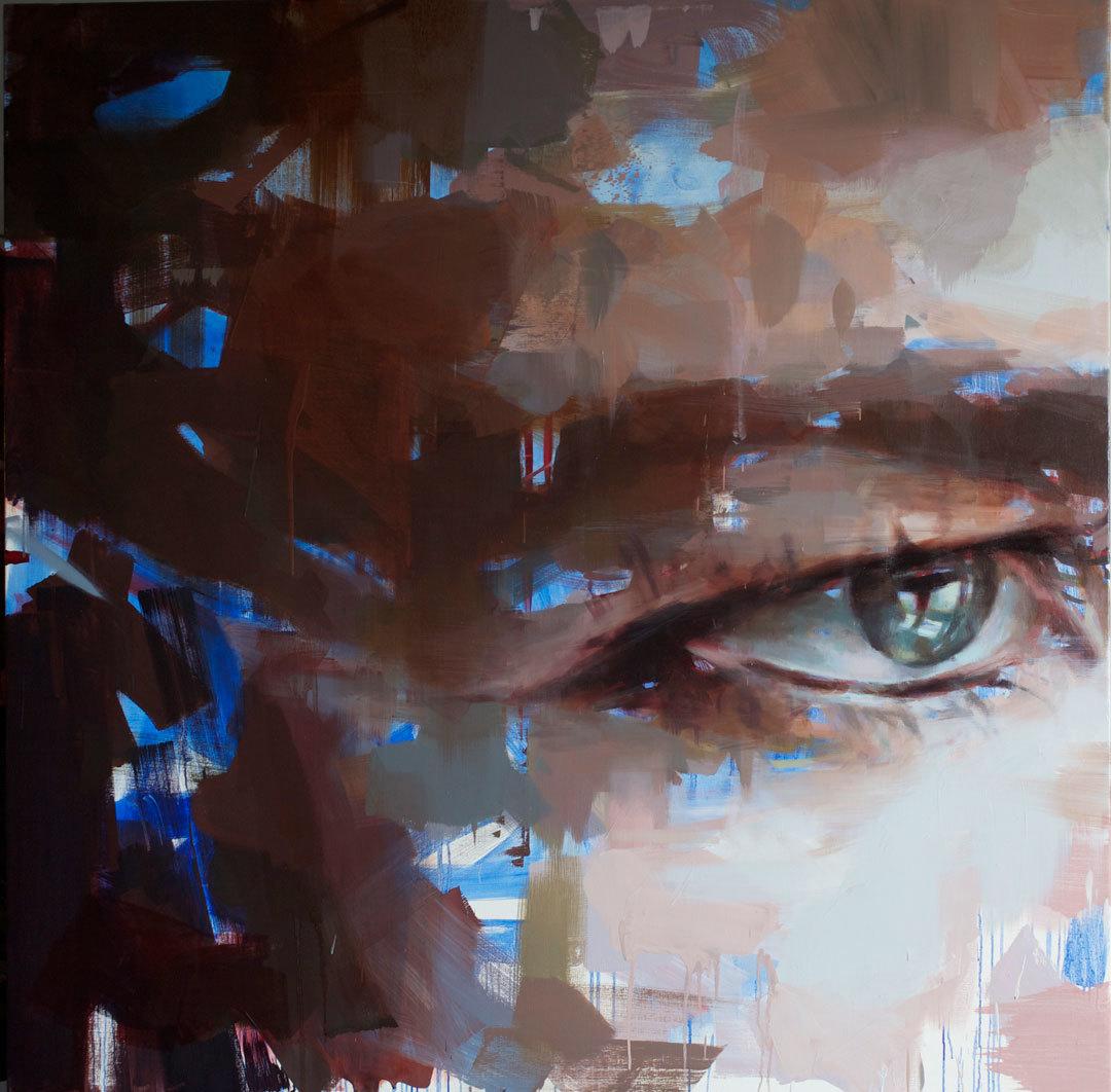 "Eye # 15 . 2013. 59"" x 59"", ( 150 x 150 cm) oil on canvas"