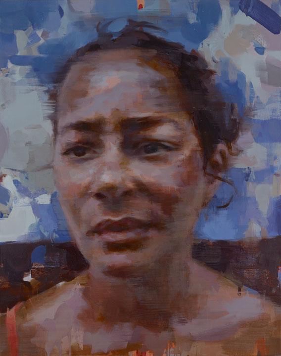 """Lucie . 2014, 60"""" x 40"""", (150 x 100 cm) oil on linen"""