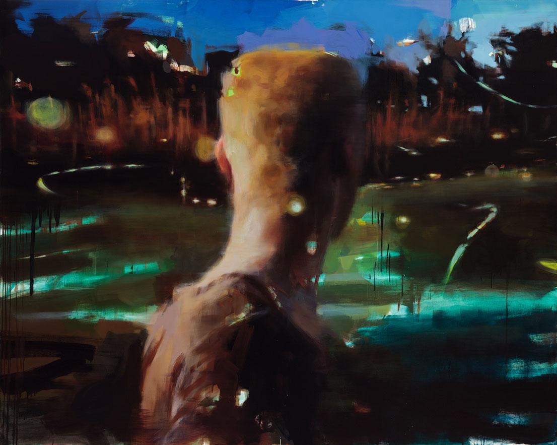 "Amongst Fireflies , 99"" x 79"", (200 x 150 cm), oil on canvas"