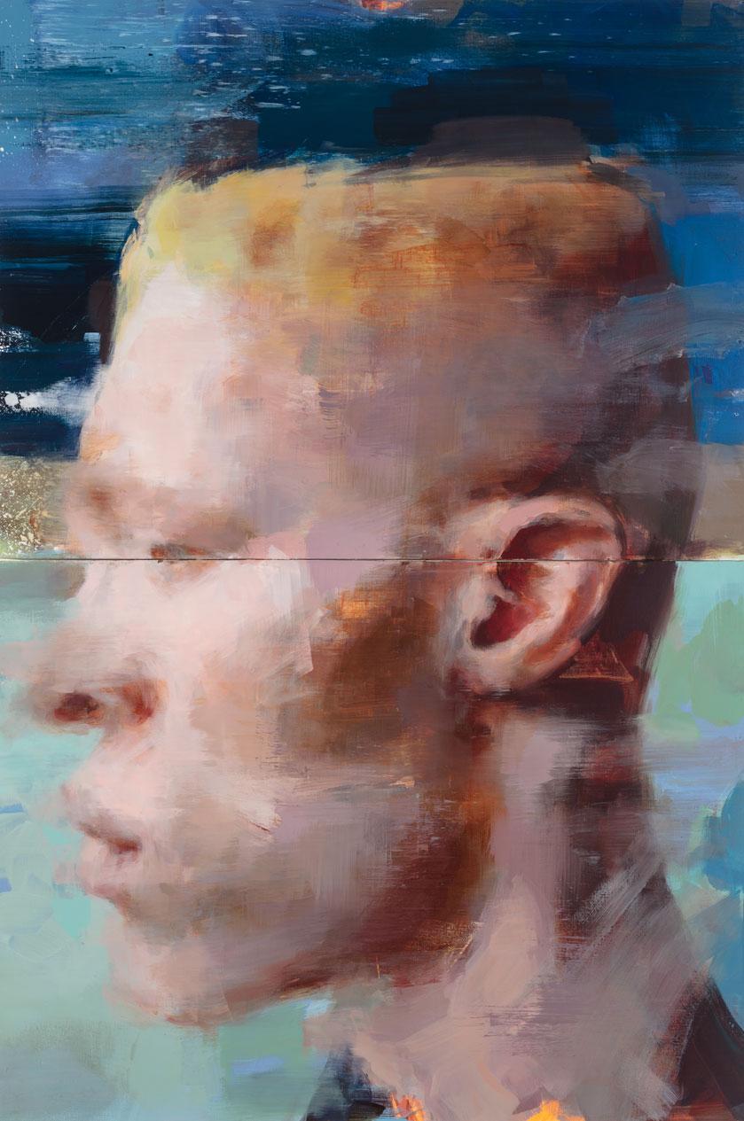 "Before Dark , 30"" x 40"" x 2, (76 x 101 cm x 2), oil on canvas"