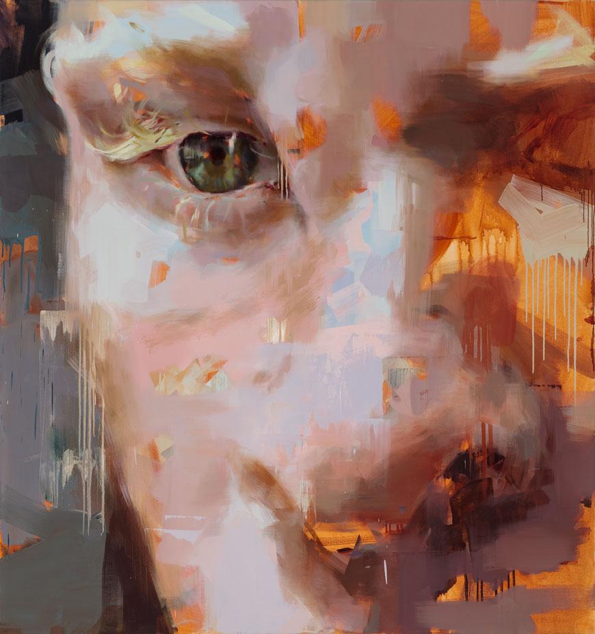 "Him. 2014, 79"" x 79"", (200 x 200 cm), oil on canvas"