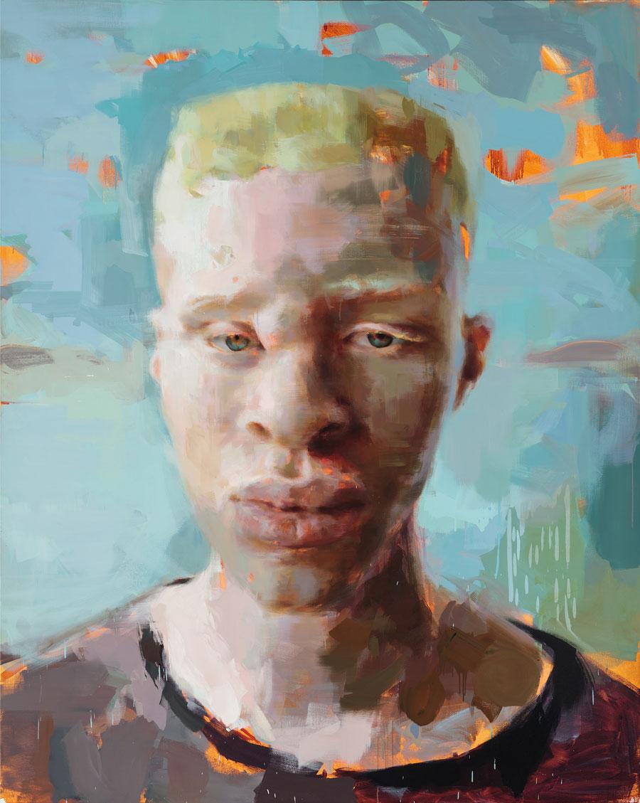 "Genesis. 2014, 99"" x 79"", (250 x 150 cm), oil on linen"