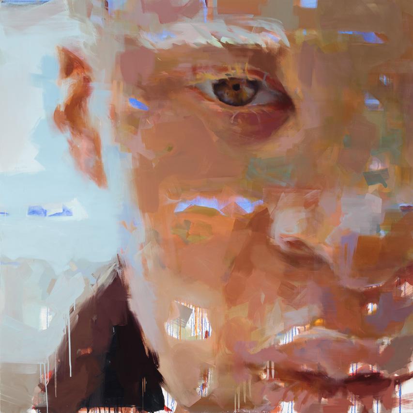 """Him. 2014, 79"""" x 79"""", (200 x 200 cm), oil on linen"""