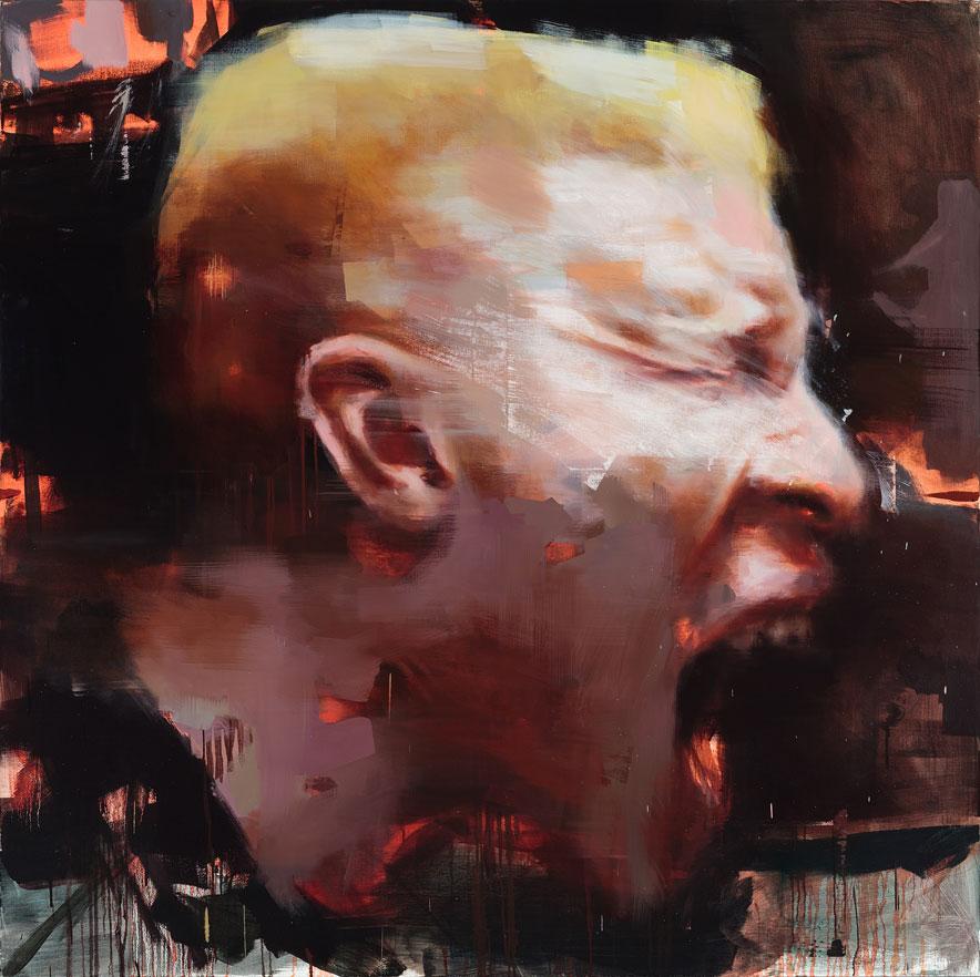 "Le Cri. 2014, 79"" x 79"", (200 x 200 cm), oil on canvas"