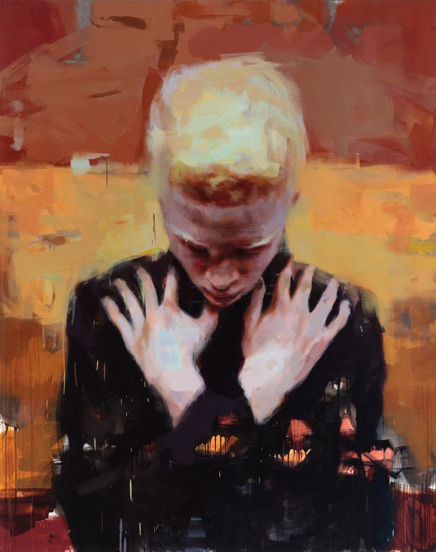 """Son of Sun. 2014, 79"""" x 99"""", (200 x 250 cm), oil on canvas"""