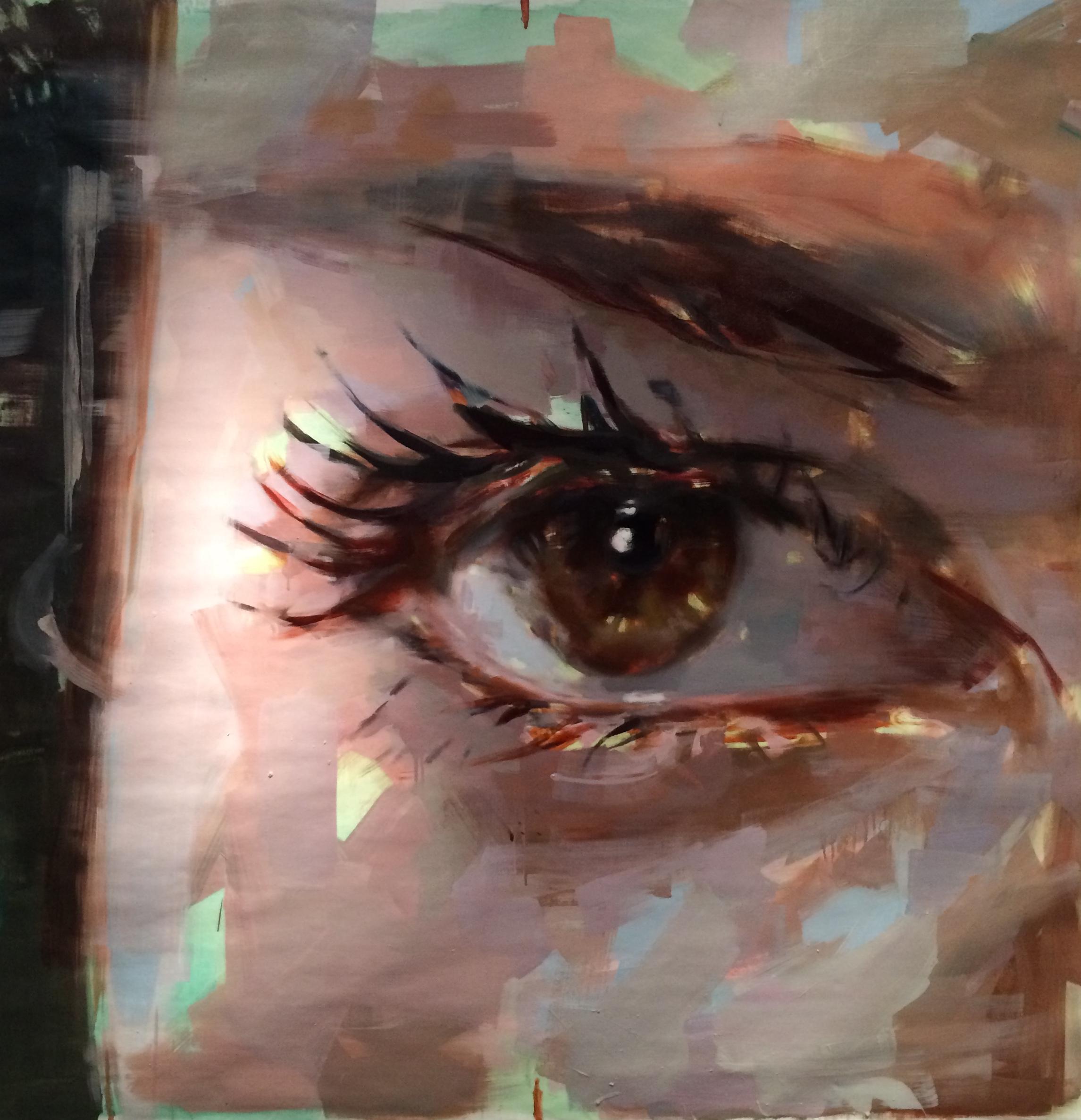 "Eye # 19. 2013, 59"" x 59"", (150x 150cm) oil on canvas"