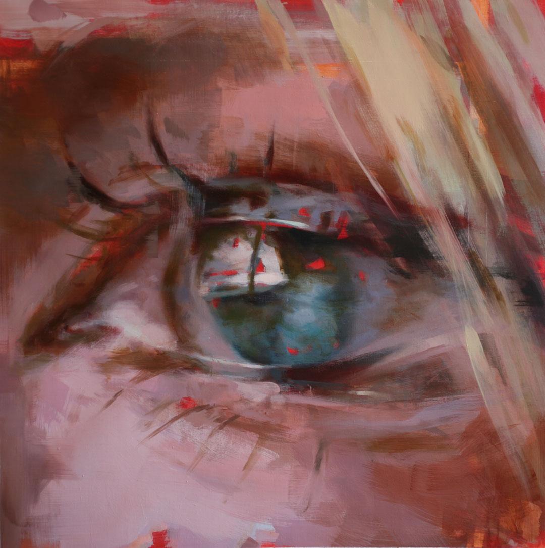 """Overlay. 2013, 28"""" x 28"""", (71x 71cm) oil on canvas"""