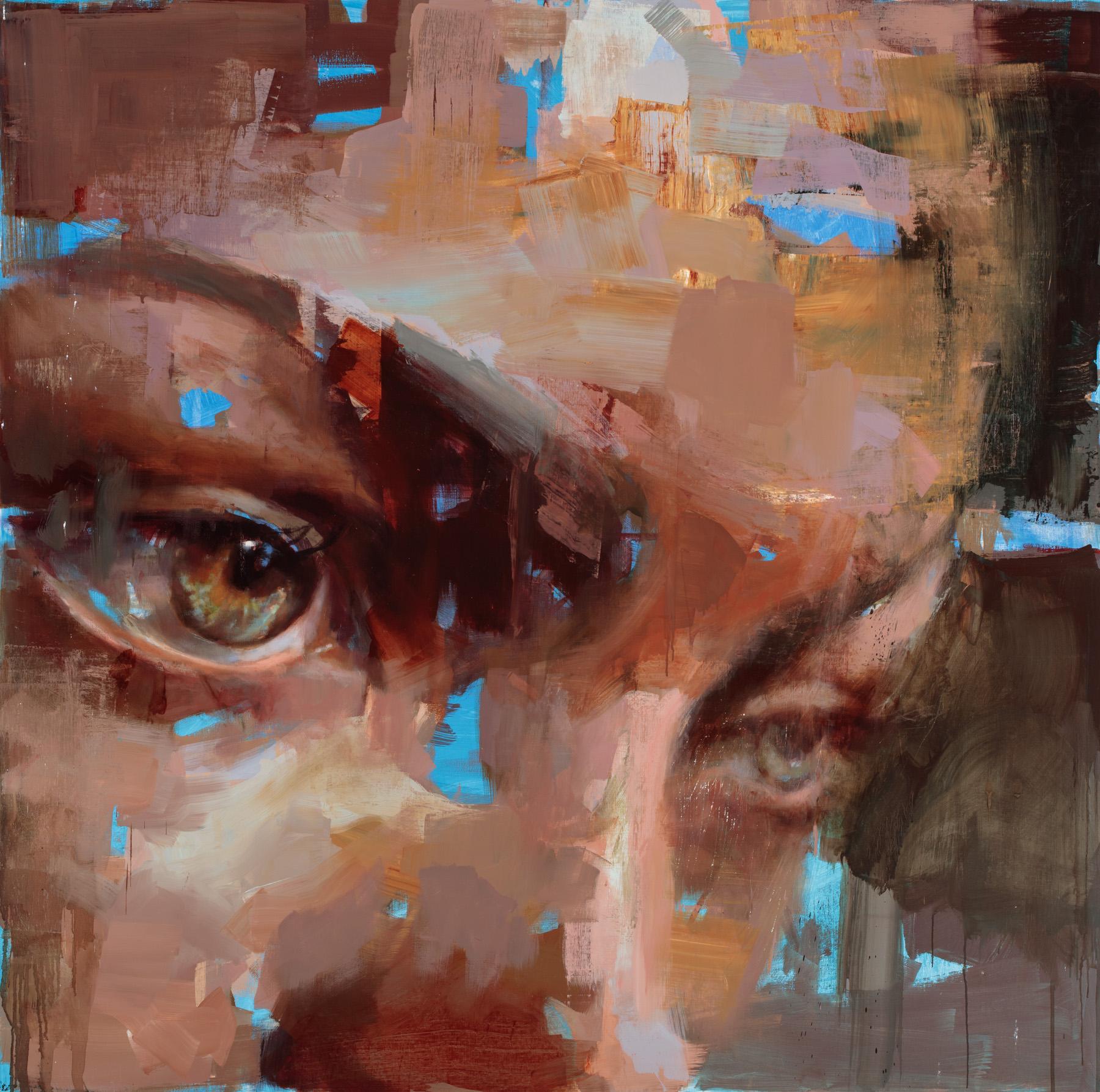 """""""Eye # 16"""" 2016, 59"""" x 59"""" (150 x 150cm) oil on linen."""