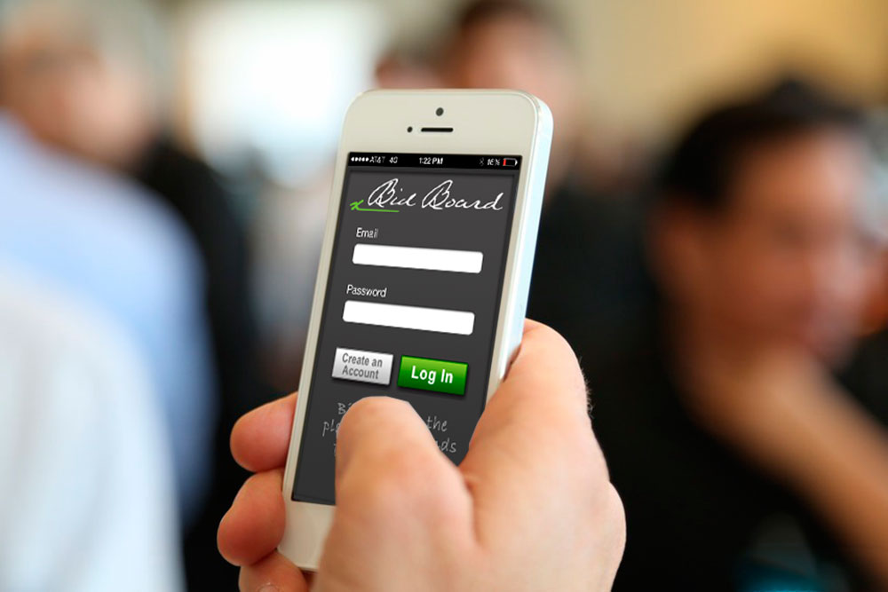 Bid Board App User Experience - KLN Design