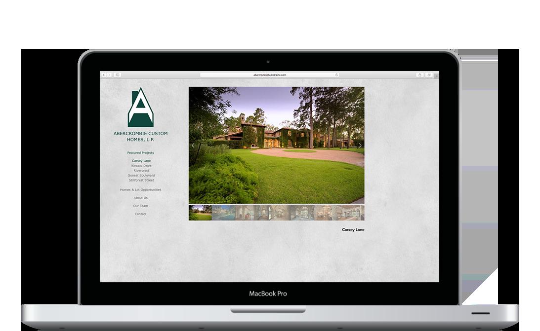 Abercrombie Builders Inc. Desktop Layout - KLN Design