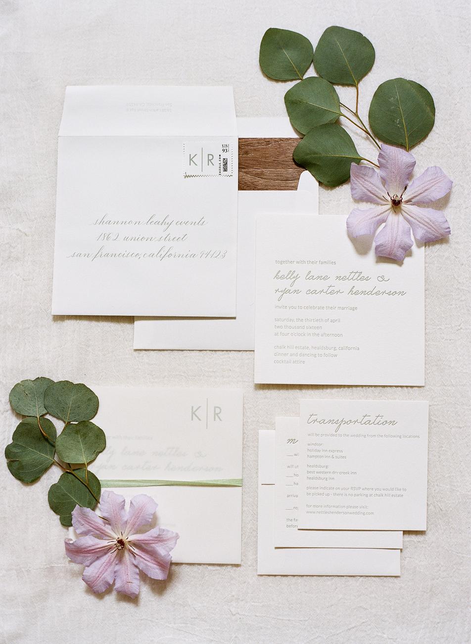 3 Gray Wedding Stationary Suite - KLN Design