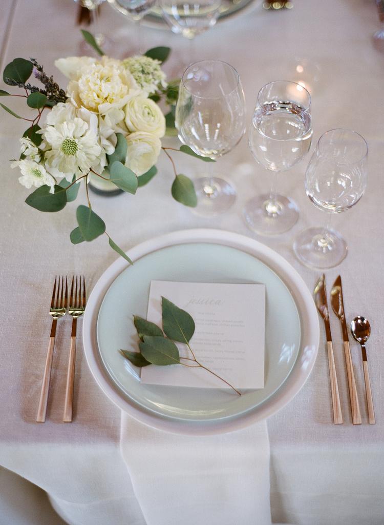 3 Gray Wedding Place Card Design - KLN Design